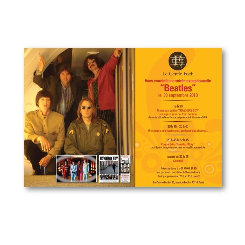 Flyer Concert Beatles