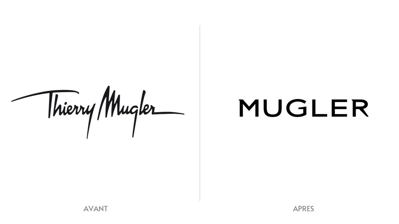Logo Mugler Avant / Après