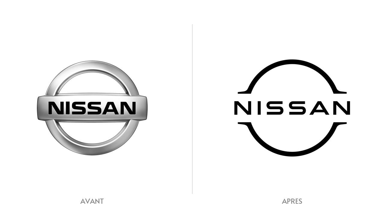 Logo Nissan Avant / Après