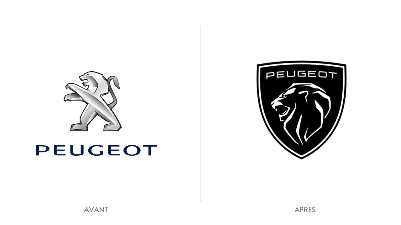 Logo Peugeot Avant / Après