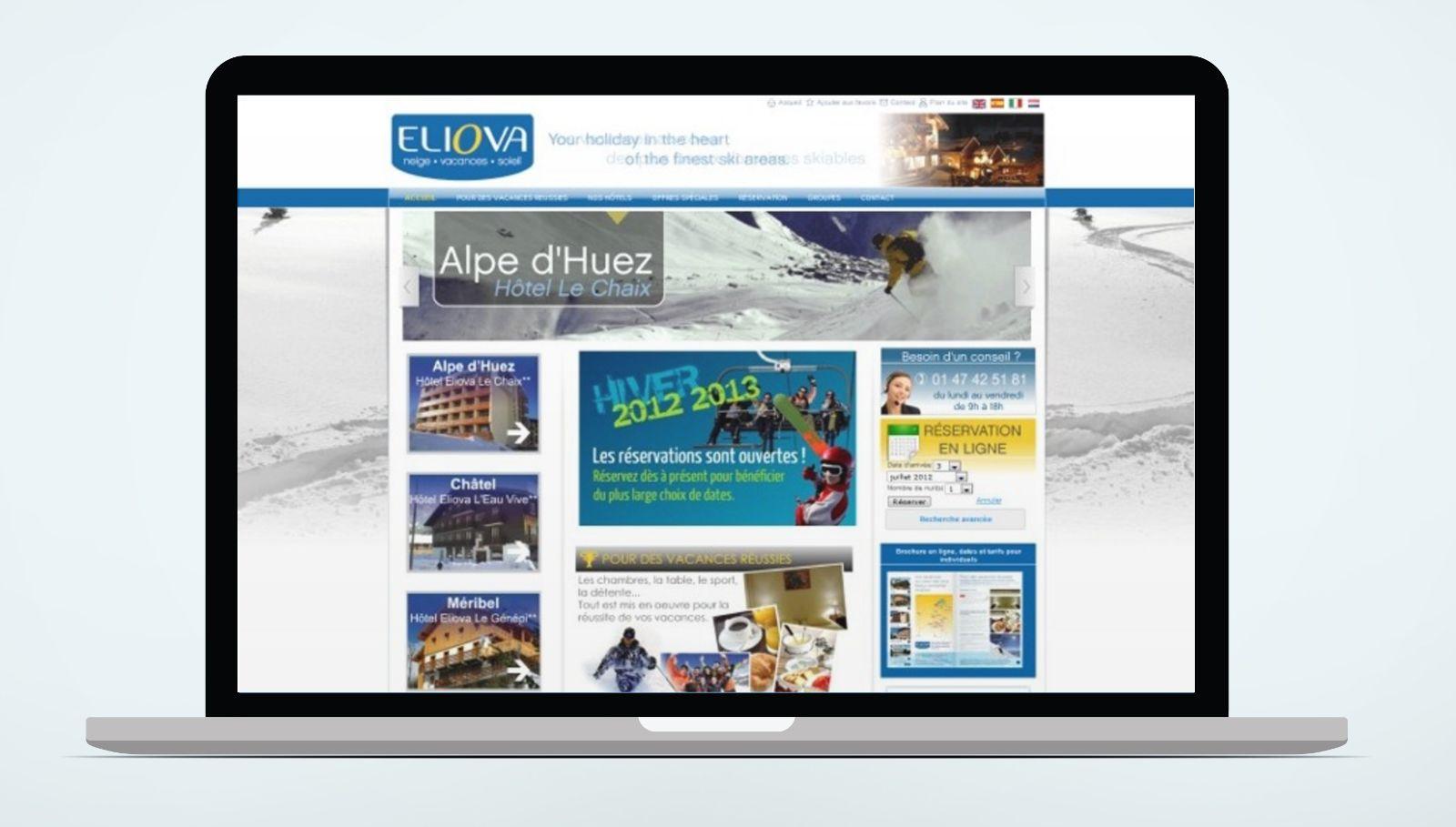 Le site Eliova avant refonte